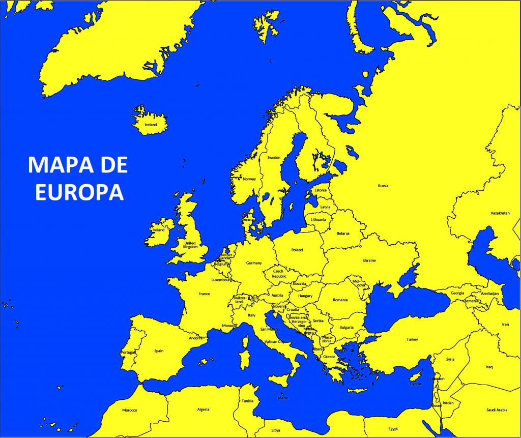 mapa de europa imagen