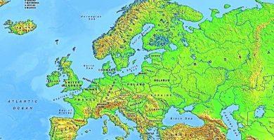 mapa fisico continente europa