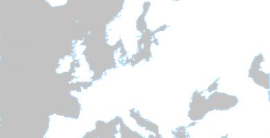 mapa de europa para colorear