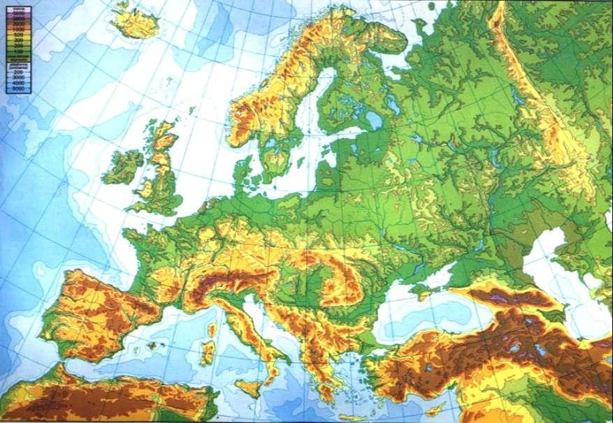 Mapa De Europa Fisico Imagenes Mapas Del Continente Europeo