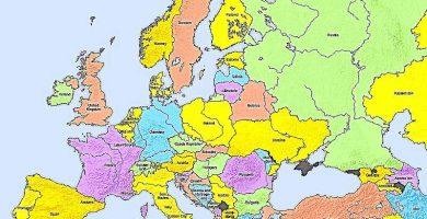 mapa politico europa continente europeo